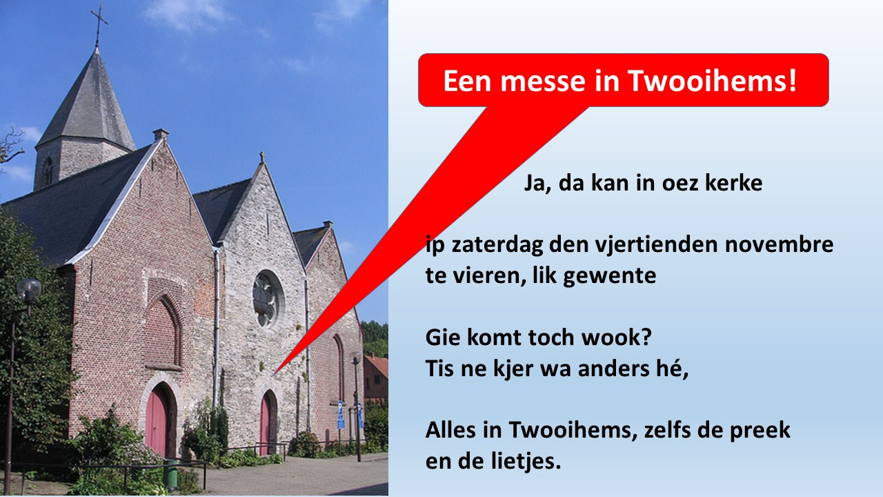 Een messe in Twooigems